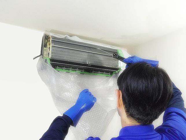 エアコン高圧洗浄